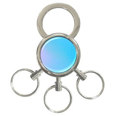 Background Graphics Lines Wave 3-Ring Key Chains