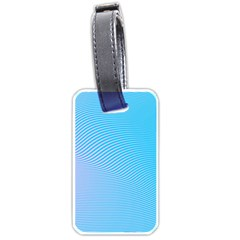 Background Graphics Lines Wave Luggage Tags (One Side)