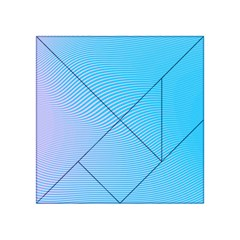 Background Graphics Lines Wave Acrylic Tangram Puzzle (4  x 4 )