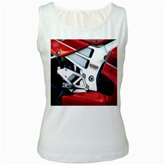 Footrests Motorcycle Page Women s White Tank Top
