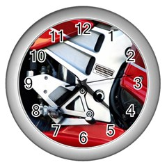 Footrests Motorcycle Page Wall Clocks (Silver)