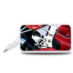 Footrests Motorcycle Page Portable Speaker (White)