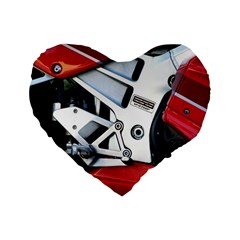 Footrests Motorcycle Page Standard 16  Premium Flano Heart Shape Cushions