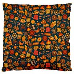 Pattern Background Ethnic Tribal Large Flano Cushion Case (One Side)