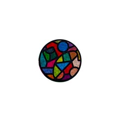 Stained Glass Color Texture Sacra 1  Mini Buttons