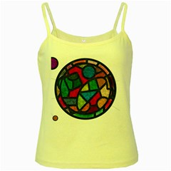 Stained Glass Color Texture Sacra Yellow Spaghetti Tank