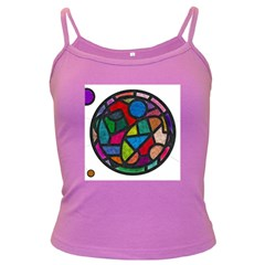 Stained Glass Color Texture Sacra Dark Spaghetti Tank