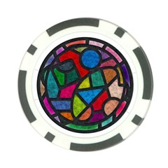 Stained Glass Color Texture Sacra Poker Chip Card Guard