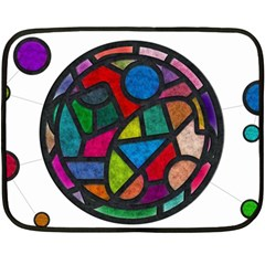 Stained Glass Color Texture Sacra Double Sided Fleece Blanket (Mini)