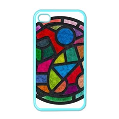 Stained Glass Color Texture Sacra Apple iPhone 4 Case (Color)