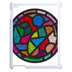 Stained Glass Color Texture Sacra Apple iPad 2 Case (White)