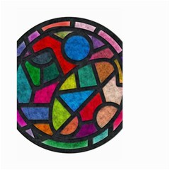 Stained Glass Color Texture Sacra Small Garden Flag (Two Sides)