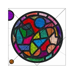 Stained Glass Color Texture Sacra Acrylic Tangram Puzzle (6  x 6 )