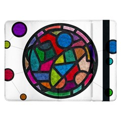 Stained Glass Color Texture Sacra Samsung Galaxy Tab Pro 12.2  Flip Case