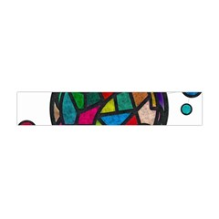 Stained Glass Color Texture Sacra Flano Scarf (Mini)