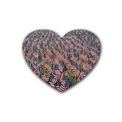 Repetition Retro Wallpaper Stripes Rubber Coaster (Heart)