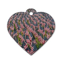 Repetition Retro Wallpaper Stripes Dog Tag Heart (Two Sides)