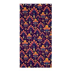 Abstract Background Floral Pattern Shower Curtain 36  x 72  (Stall)