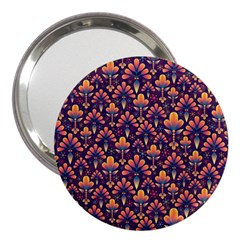 Abstract Background Floral Pattern 3  Handbag Mirrors