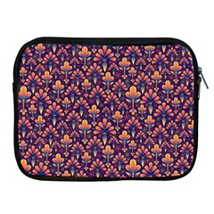 Abstract Background Floral Pattern Apple iPad 2/3/4 Zipper Cases