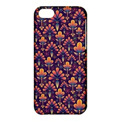 Abstract Background Floral Pattern Apple iPhone 5C Hardshell Case