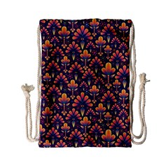 Abstract Background Floral Pattern Drawstring Bag (Small)
