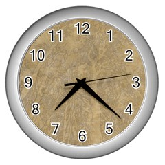 Abstract Forest Trees Age Aging Wall Clocks (Silver)