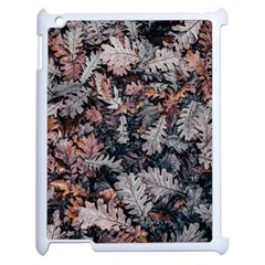 Leaf Leaves Autumn Fall Brown Apple iPad 2 Case (White)