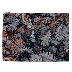 Leaf Leaves Autumn Fall Brown Cosmetic Bag (XXL)