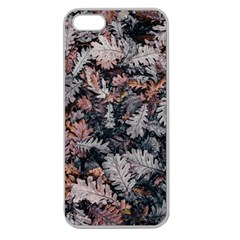 Leaf Leaves Autumn Fall Brown Apple Seamless iPhone 5 Case (Clear)