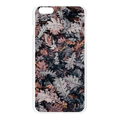 Leaf Leaves Autumn Fall Brown Apple Seamless iPhone 6 Plus/6S Plus Case (Transparent)