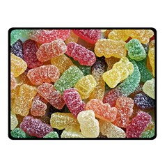 Jelly Beans Candy Sour Sweet Fleece Blanket (Small)