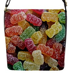 Jelly Beans Candy Sour Sweet Flap Messenger Bag (S)