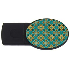 Vintage Pattern Unique Elegant USB Flash Drive Oval (2 GB)