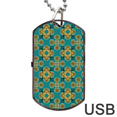 Vintage Pattern Unique Elegant Dog Tag USB Flash (Two Sides)