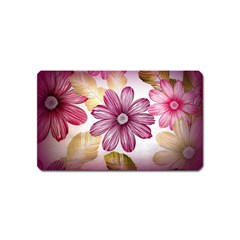 Flower Print Fabric Pattern Texture Magnet (Name Card)