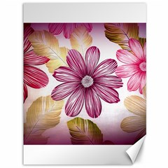 Flower Print Fabric Pattern Texture Canvas 36  x 48