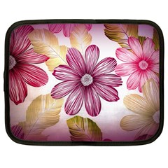 Flower Print Fabric Pattern Texture Netbook Case (Large)