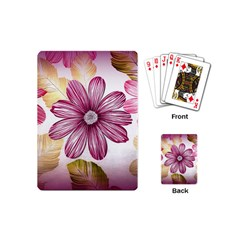 Flower Print Fabric Pattern Texture Playing Cards (Mini)