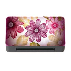 Flower Print Fabric Pattern Texture Memory Card Reader with CF