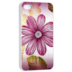 Flower Print Fabric Pattern Texture Apple iPhone 4/4s Seamless Case (White)