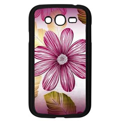 Flower Print Fabric Pattern Texture Samsung Galaxy Grand DUOS I9082 Case (Black)