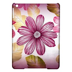 Flower Print Fabric Pattern Texture iPad Air Hardshell Cases