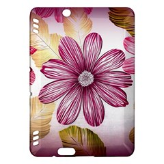 Flower Print Fabric Pattern Texture Kindle Fire HDX Hardshell Case