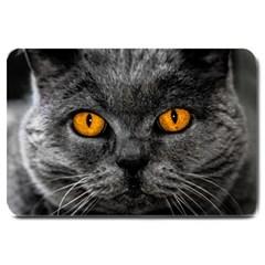 Cat Eyes Background Image Hypnosis Large Doormat