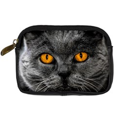 Cat Eyes Background Image Hypnosis Digital Camera Cases