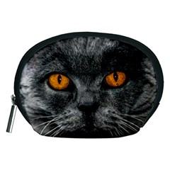 Cat Eyes Background Image Hypnosis Accessory Pouches (Medium)