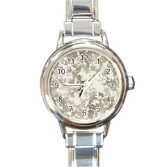 Wall Rock Pattern Structure Dirty Round Italian Charm Watch