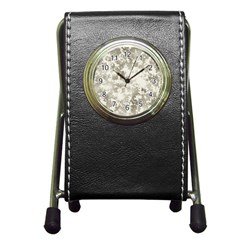 Wall Rock Pattern Structure Dirty Pen Holder Desk Clocks