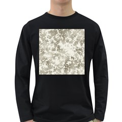 Wall Rock Pattern Structure Dirty Long Sleeve Dark T-Shirts